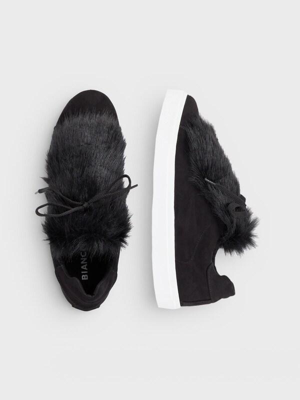Bianco Sneaker Fell-Deko