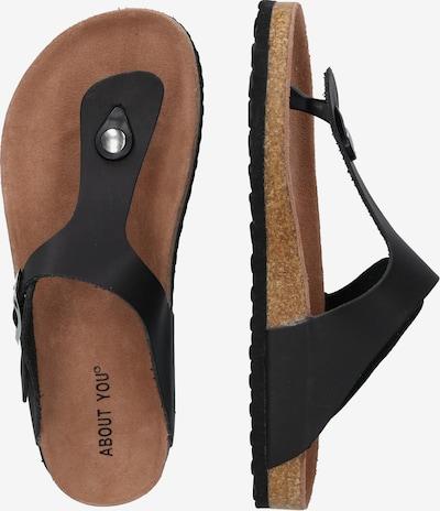 ABOUT YOU Sandale 'Elin' in schwarz: Seitenansicht
