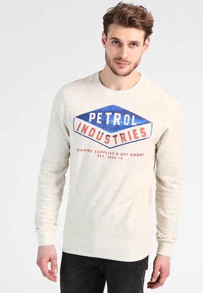 Petrol Industries Sweatshirt in perlweiß: Frontalansicht