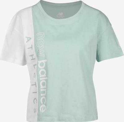 new balance T-Shirt in mint / weiß, Produktansicht