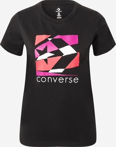 CONVERSE T-Shirt in rosa / rot / schwarz / weiß, Produktansicht