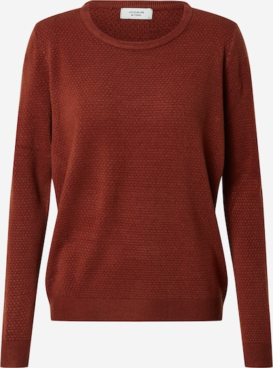 JACQUELINE de YONG Pull-over 'NEW FRIENDS' en rouge rouille, Vue avec produit