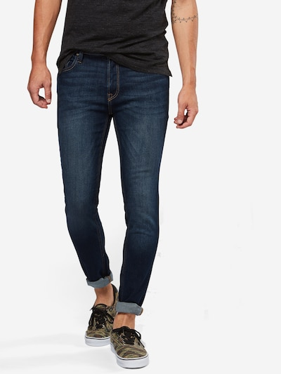 JACK & JONES Röhrenjeans 'Liam' in blue denim, Modelansicht