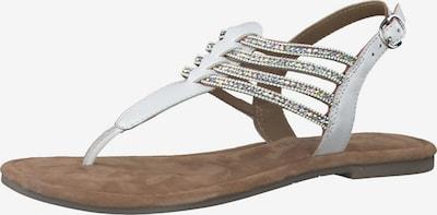 Flip-flops TAMARIS pe alb, Vizualizare produs