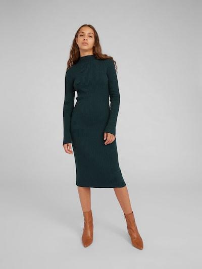 EDITED Gebreide jurk 'Hada' in de kleur Groen / Donkergroen, Modelweergave