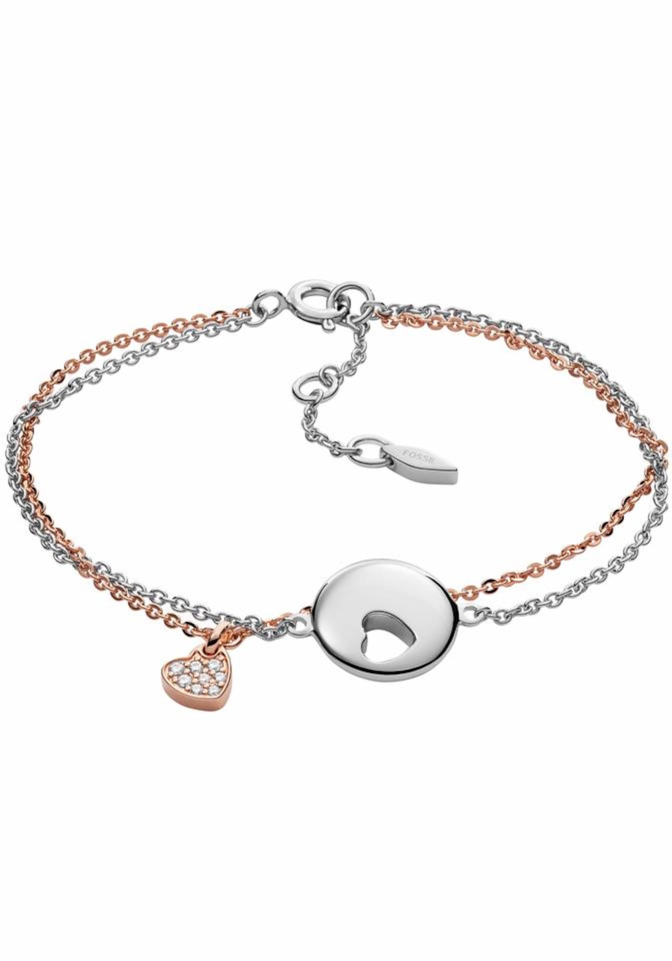FOSSIL Armband 'Herzen, STERLING, JFS00439998'