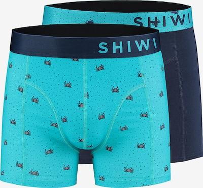 Boxeri 'men boxershort crabby' Shiwi pe albastru, Vizualizare produs
