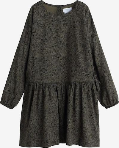 MANGO KIDS Jurk 'Blin' in de kleur Kaki / Zwart, Productweergave