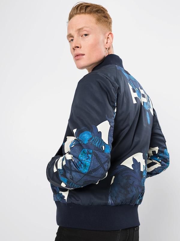 'rackam FoncéBlanc En Mi saison Bomber' Veste Padded G star Sports Bleu Raw PkXiOZu