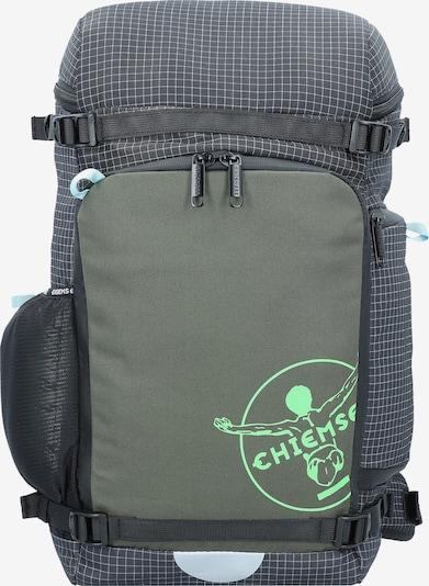CHIEMSEE Rucksack in khaki / schwarz / weiß, Produktansicht