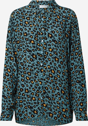 Fabienne Chapot Blouse 'Fez' in turquoise / black, Item view