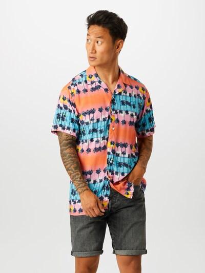 Redefined Rebel Košeľa 'Benjamin Shirt' - modré / ružová: Pohľad spredu