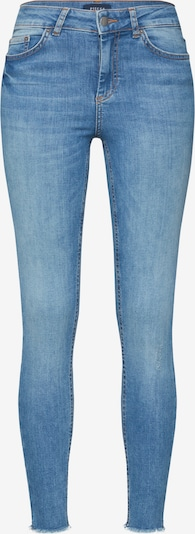 PIECES Jeans 'PCDELLY MW SKN CRP JNS NOOS' in blue denim: Frontalansicht