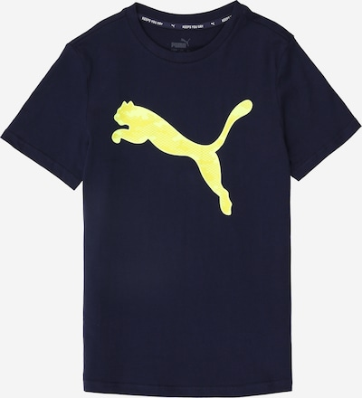 PUMA Shirt  'Active Sports Graphic Tee B' in dunkelblau / zitrone, Produktansicht