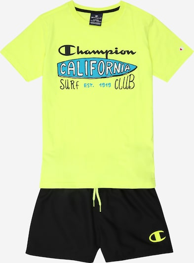 Champion Authentic Athletic Apparel Set in gelb / schwarz, Produktansicht