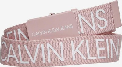 Calvin Klein Jeans Gürtel in pink / weiß: Frontalansicht