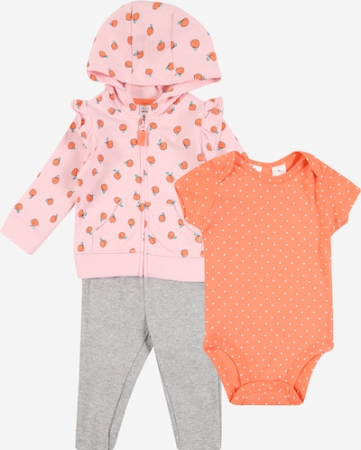 Carter's Set (3-teilig) in grau / orange / rosa, Produktansicht