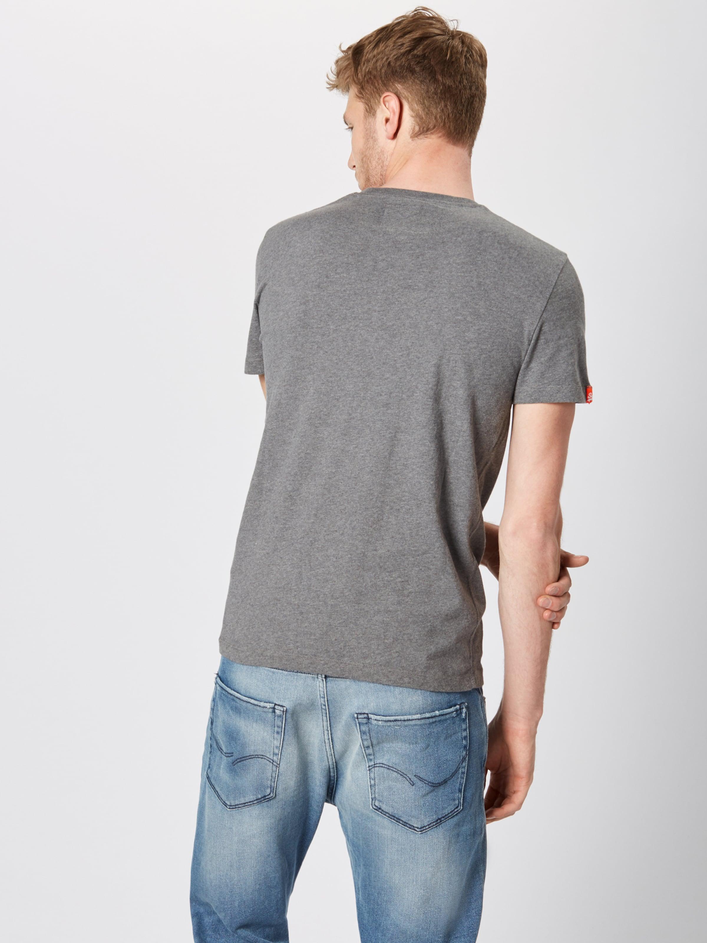 Superdry 'orange En Fluo Vintage' shirt T GrisVert 1clTFKJ3