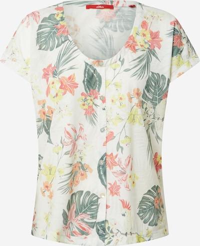 s.Oliver Shirt in de kleur Geel / Groen / Rood / Wit, Productweergave