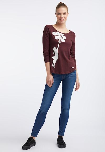 HOMEBASE T-shirt en violet rouge / rouge chiné / blanc, Vue avec produit