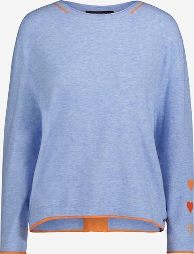 Betty Barclay Feinstrickpullover mit Knöpfen in blaumeliert / orange, Produktansicht
