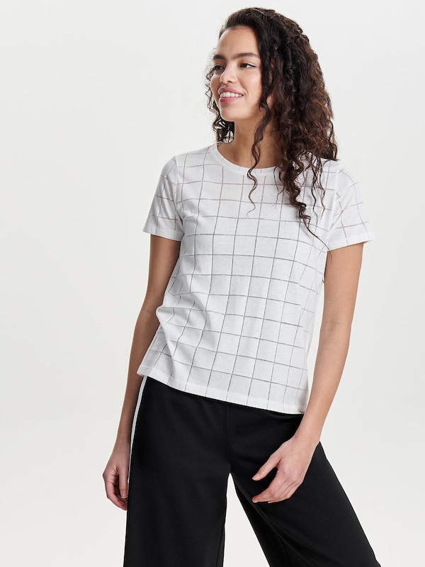 Only Detail Rich Shell With Short Sleeves