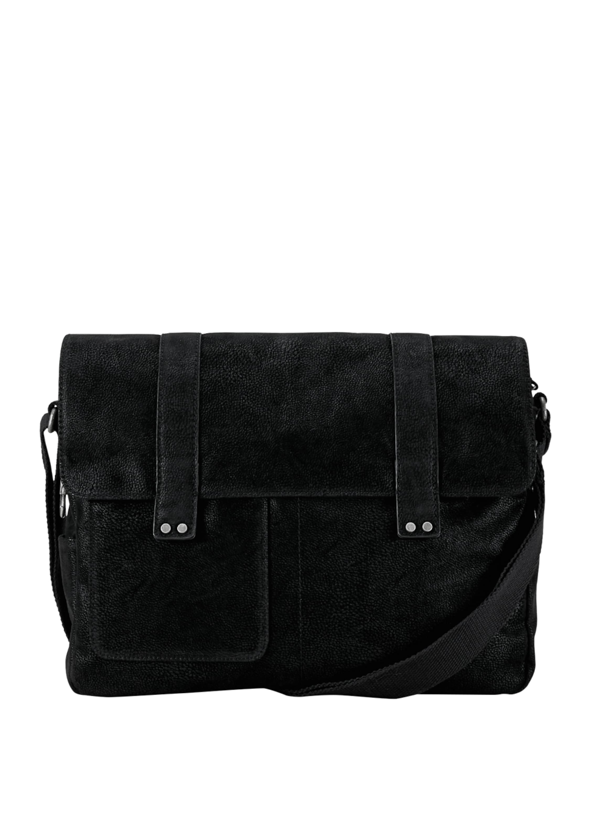 Red oliver Bag In Veloursleder optik Schwarz Label S Messenger oexCBrd