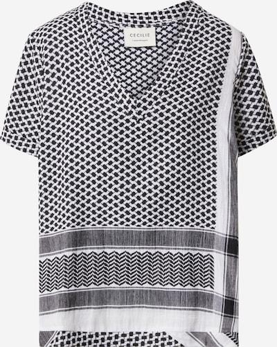 Tricou Cecilie Copenhagen pe negru / alb, Vizualizare produs