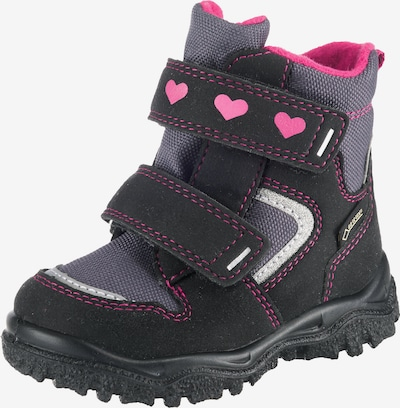 myToys-COLLECTION Winterstiefel 'Husky1' in dunkelgrau / dunkelpink / schwarz: Frontalansicht
