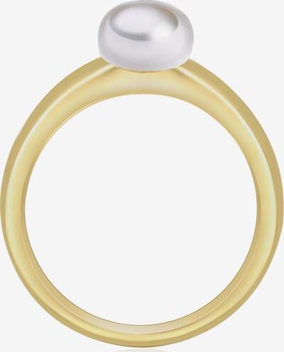 Valero Pearls Silberring mit Perle in gold / perlweiß, Produktansicht