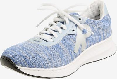 RIEKER Sneaker in rauchblau / weiß: Frontalansicht