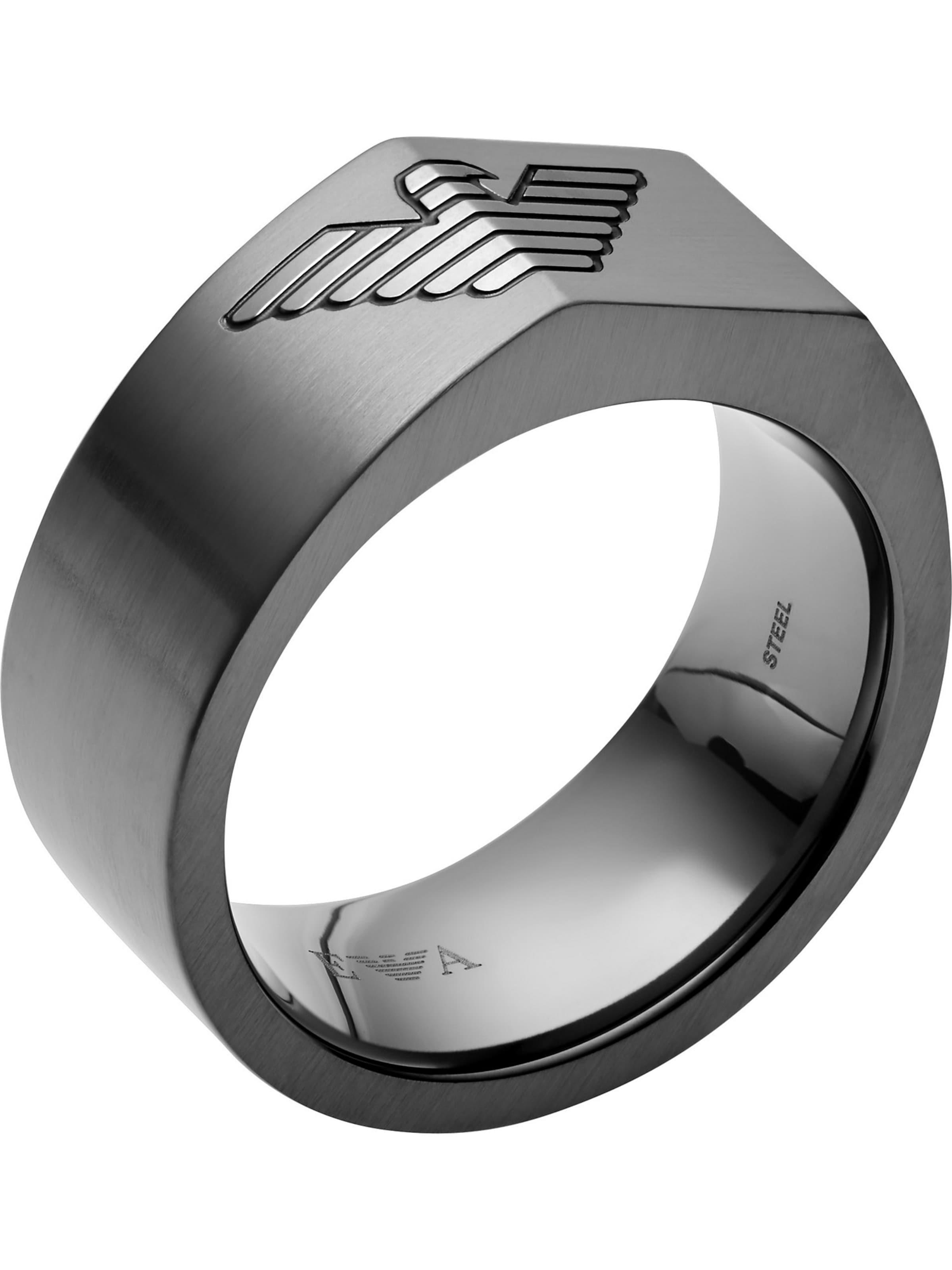 Armani Emporio Emporio Armani Dunkelgrau Ring In 2WDYbeE9IH