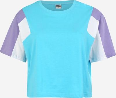Urban Classics T-shirt en turquoise / lavande / blanc, Vue avec produit