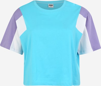 Urban Classics Curvy Majica | turkizna / sivka / bela barva, Prikaz izdelka