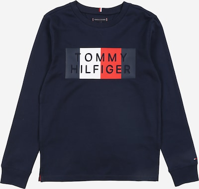 TOMMY HILFIGER T-Shirt 'GLOBAL STRIPE GRAPHIC' in nachtblau, Produktansicht