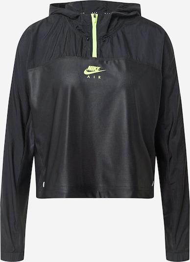 NIKE Sportjas 'Air' in de kleur Neongroen / Zwart, Productweergave