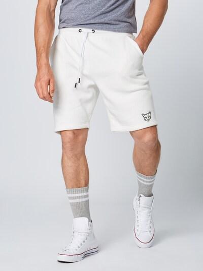 Kelnės 'Linus' iš PARI , spalva - balta, Modelio vaizdas