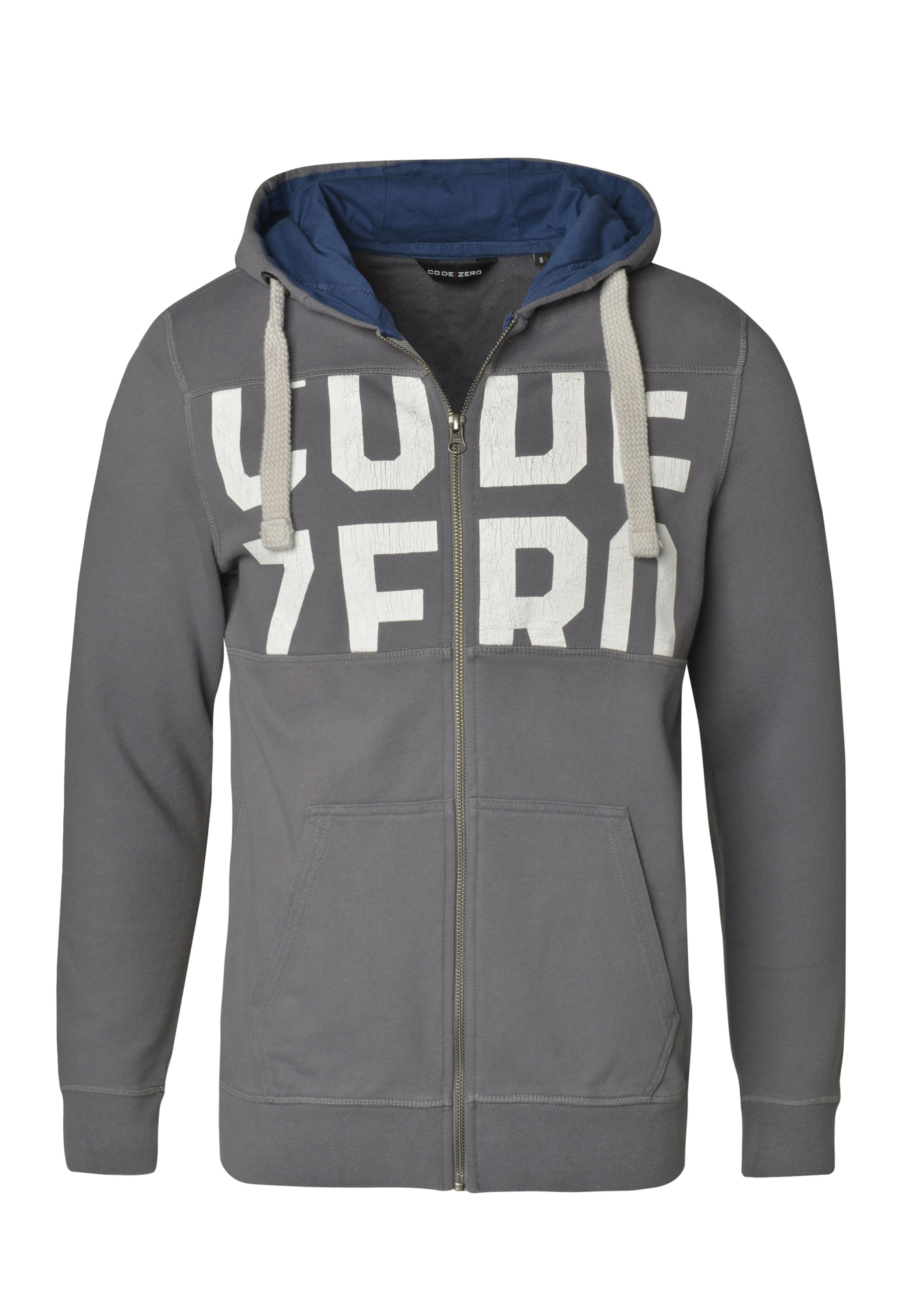 Sewn' Offwhite 'cutamp; DunkelblauStone Sweater In zero Code ARj534L