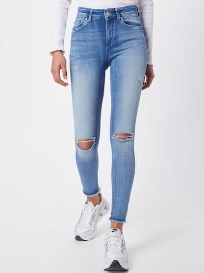 ONLY Jeans 'ONLFBLUSH MID SK ANK RAW VEC' in de kleur Blauw denim: Vooraanzicht