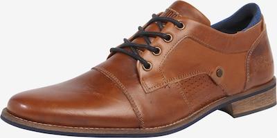 Batai su raišteliais iš BULLBOXER , spalva - ruda (konjako): Vaizdas iš priekio