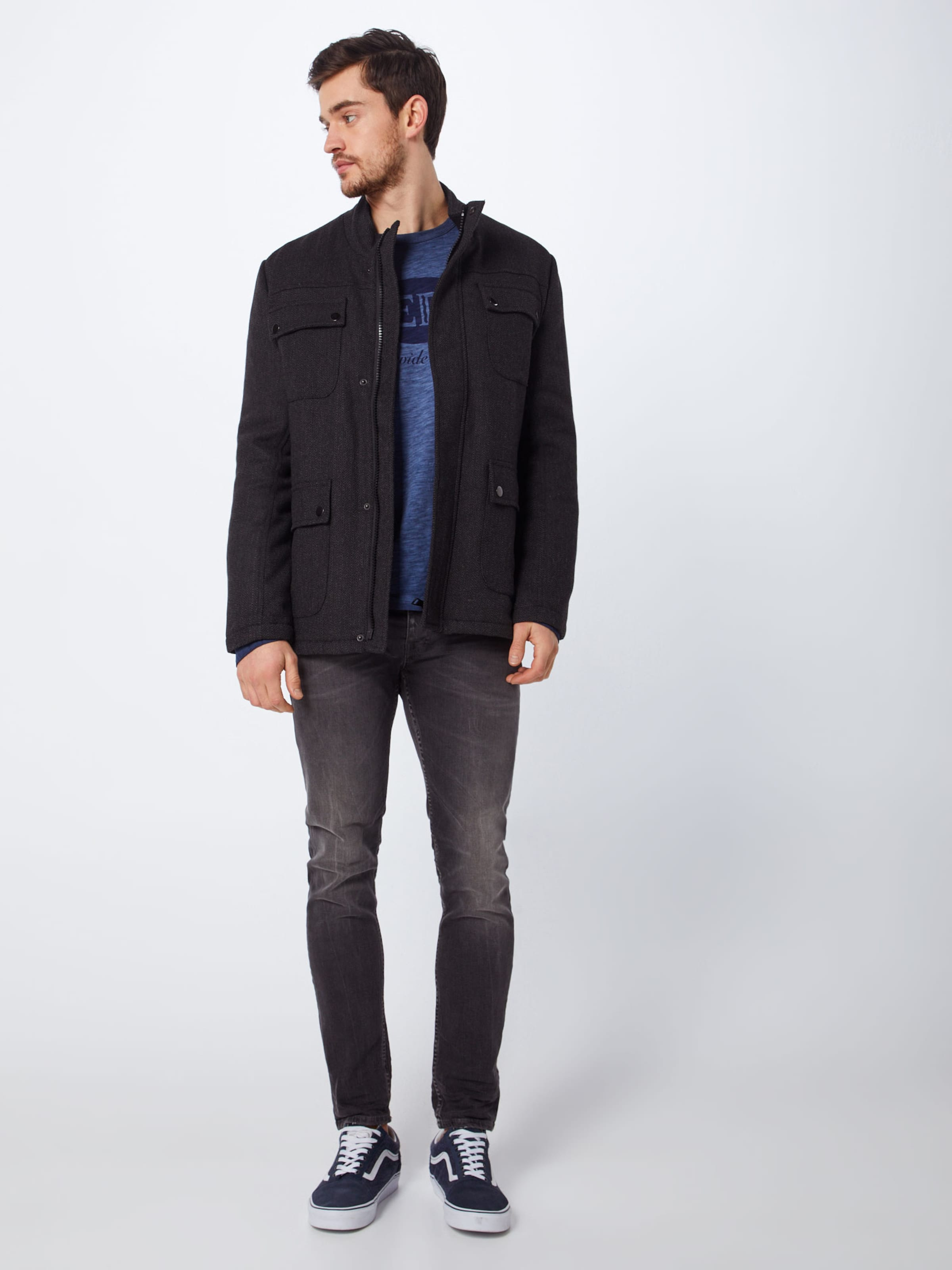 shirt Jeans Pepe 'duran Bleu En T Ls' Foncé VpUMSz