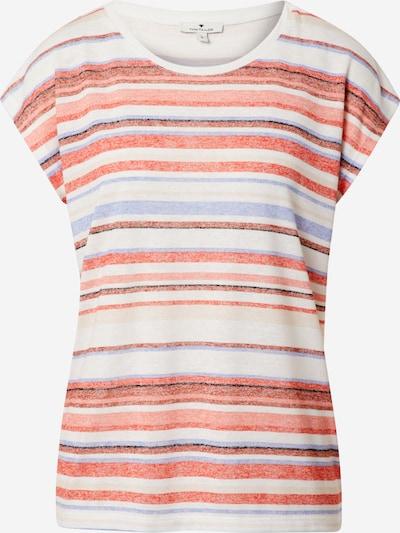 TOM TAILOR T-Shirt in hellblau / pastellrot / weiß, Produktansicht
