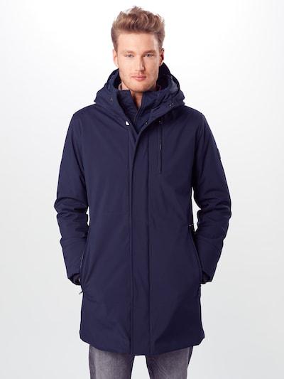 KnowledgeCotton Apparel Winterjas in de kleur Donkerblauw: Vooraanzicht