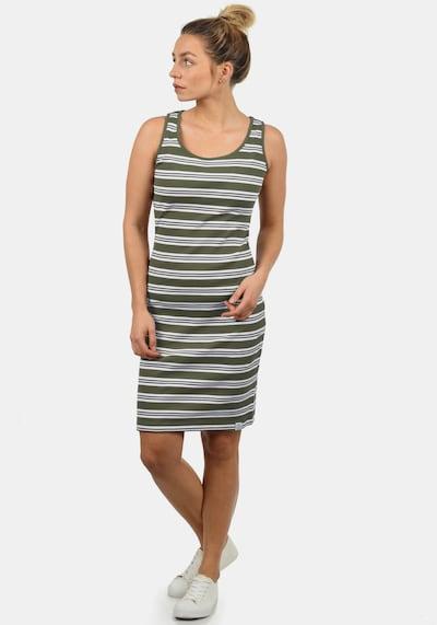 Desires Jerseykleid 'Rahile' in oliv / weiß, Modelansicht
