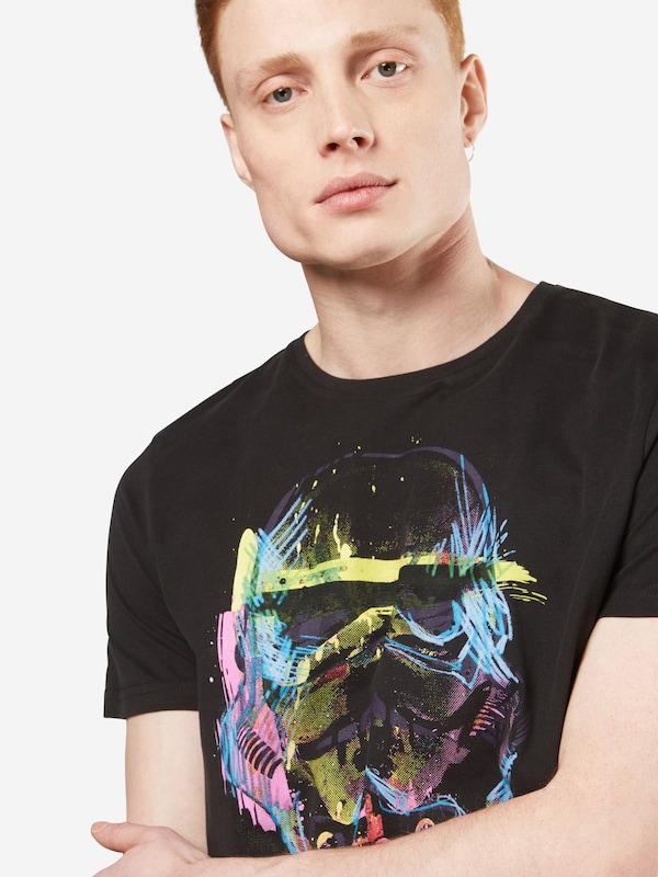GOZOO Shirt 'IMPERIAL STORMTROOPER - STAR WARS - NEON SKETCH ART'