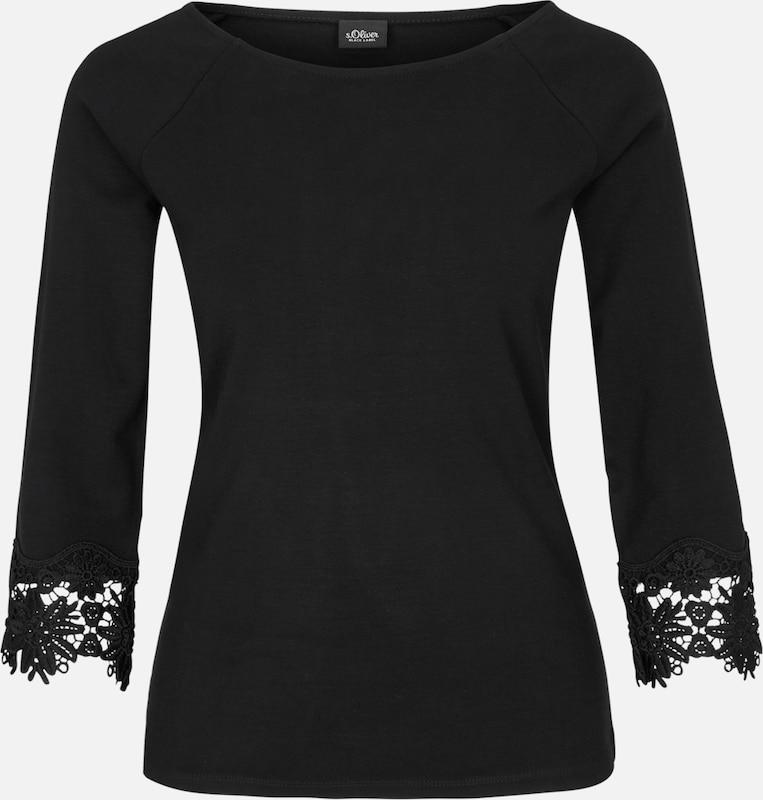 oliver Schwarz Spitzenbesatz S Shirt Mit Black Label 1fwqd8