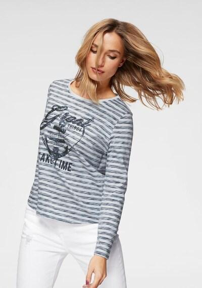ANISTON Shirt in anthrazit / weiß, Produktansicht