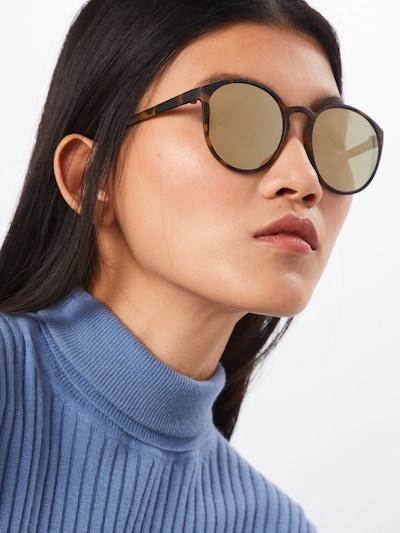 LE SPECS Sonnenbrille 'Swizzle' in braun: Frontalansicht