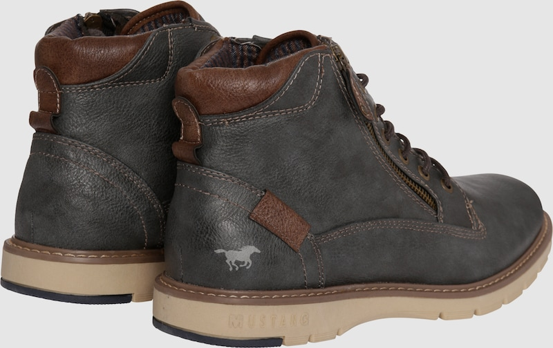 MUSTANG Schnürboot in Leder-Optik Verschleißfeste billige Schuhe Schuhe Schuhe b482b3