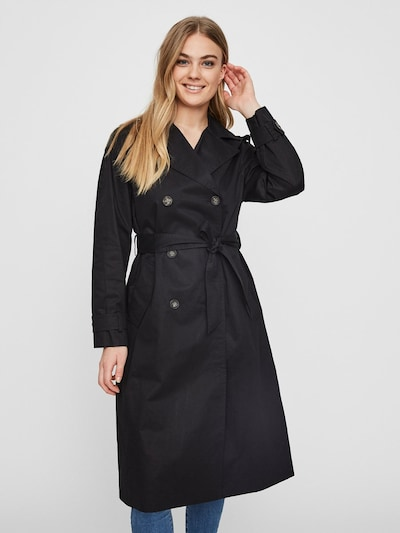 VERO MODA Trenchcoat in schwarz, Modelansicht